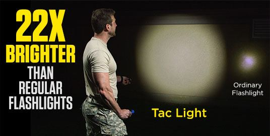 22x brighter than regular flashlights